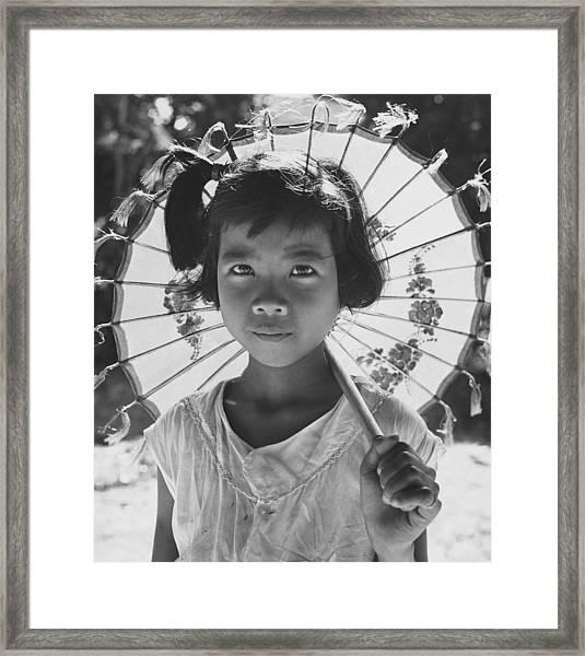 Childs Parasol Framed Print