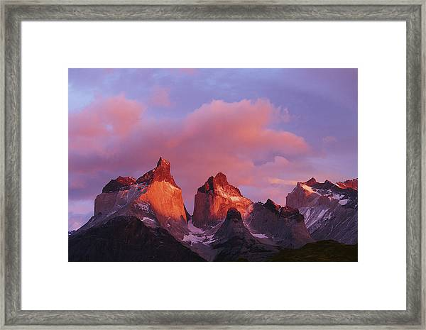 Chile, Torres Del Paine National Park Framed Print