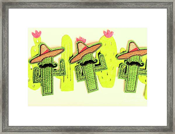 Chili Con Cacti Framed Print