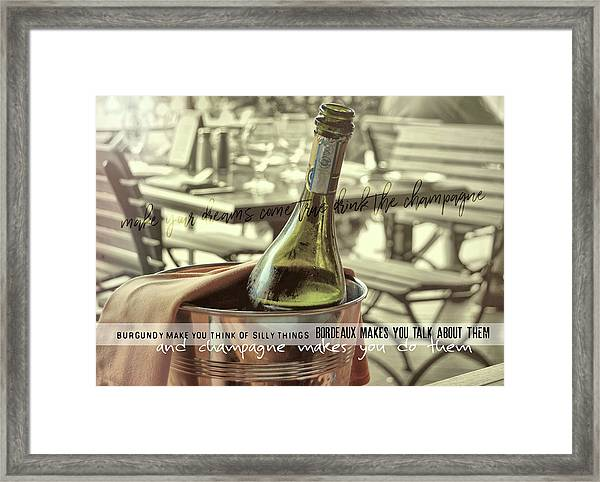 Chill To Taste Quote Framed Print by JAMART Photography