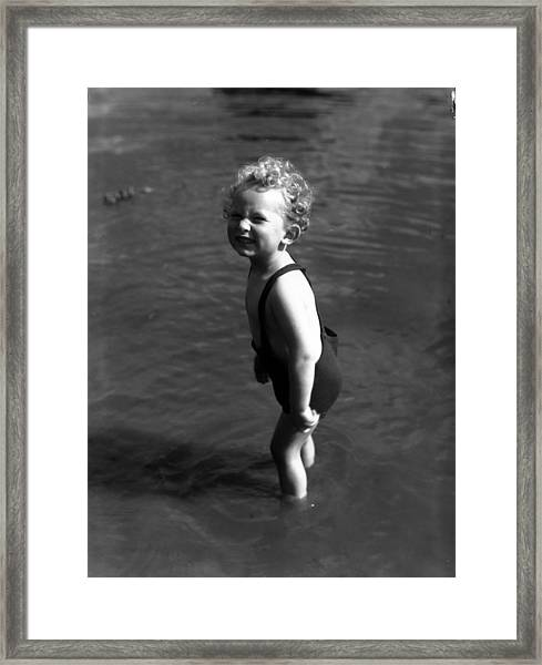 Chilly Paddle Framed Print
