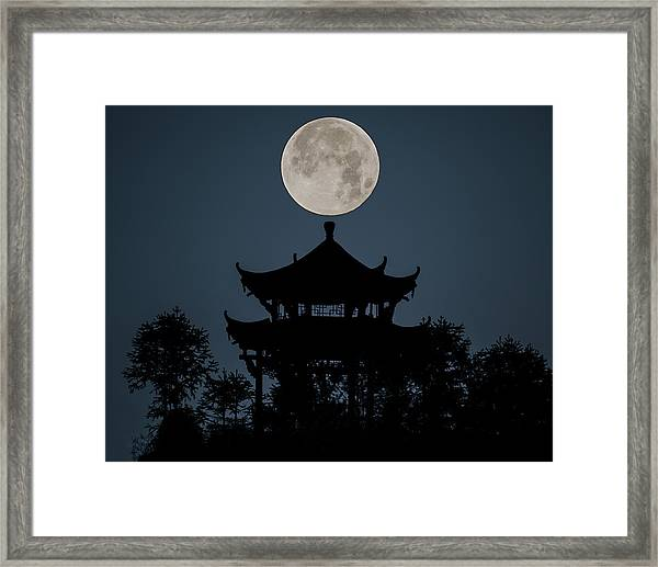 Framed Print featuring the photograph China Moon by William Dickman