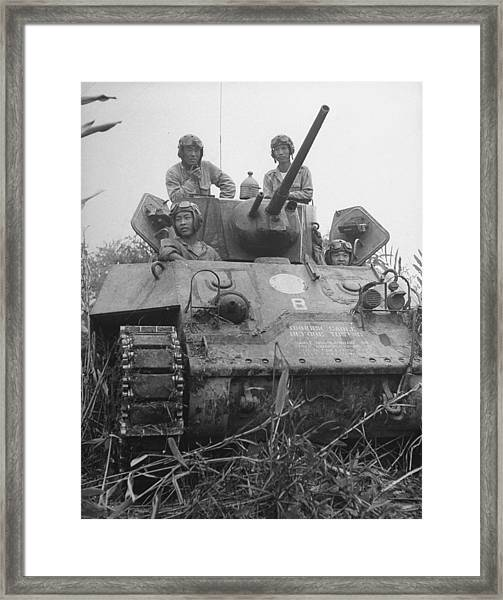 Chinese Army In Tank During Burma Campaign Framed Print by William Vandivert