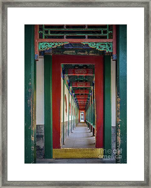 Chinese Corridor Framed Print