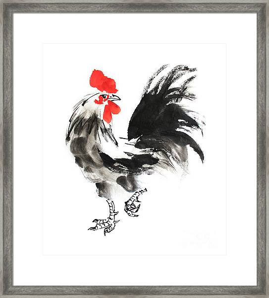 Chinese Ink Painting. Illustration Framed Print