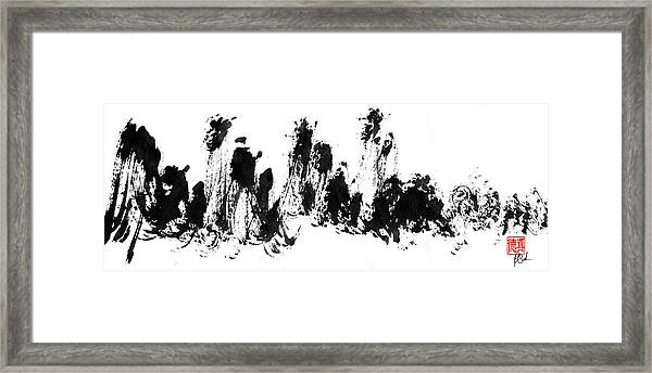 Chinese Mountains Framed Print