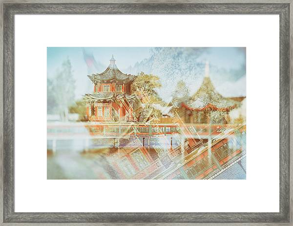 Chinese Reflections. Brech, 2018. Framed Print