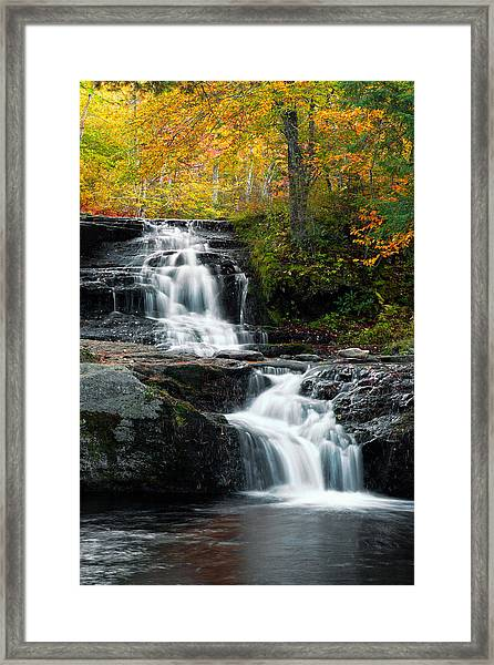 Choke Creek Falls Framed Print by Michael Gadomski