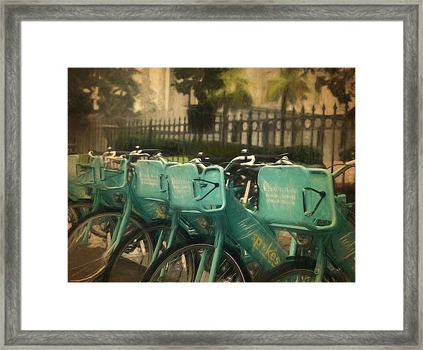 Choose Your Ride Framed Print