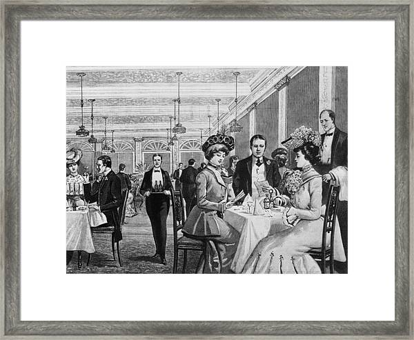 Choosing From The Menu Framed Print