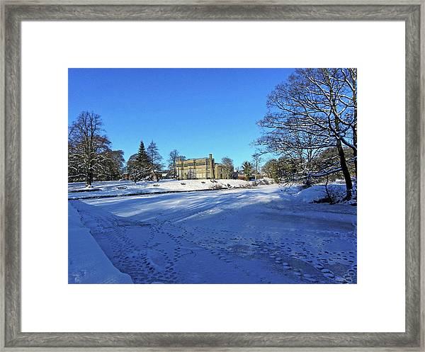Chorley. Astley Hall In The Snow Framed Print