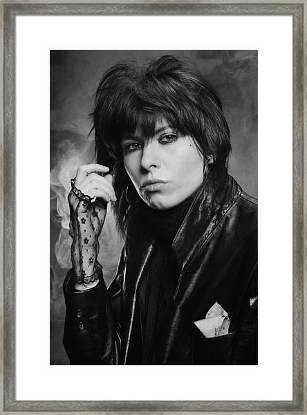 Chrissie Hynde Framed Print by Fin Costello