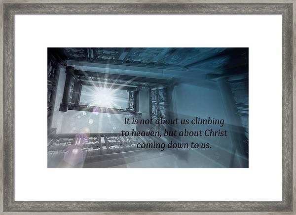 Christ Alone Framed Print