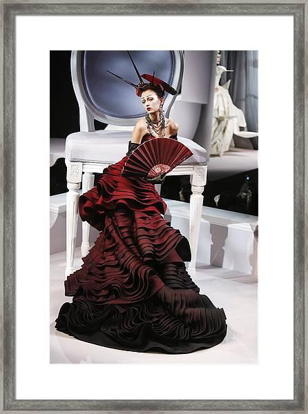 Christian Dior, Haute Couture Framed Print by Alain Benainous