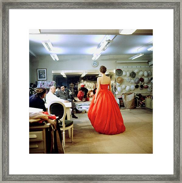 Christian Diorchristian Dior Misc Framed Print by Loomis Dean
