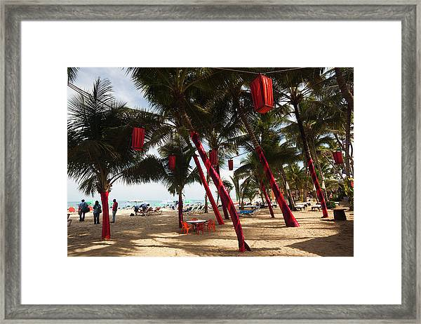 Christmas Decorations, Playa Cabarete Framed Print