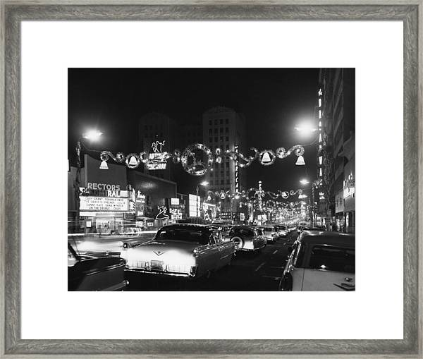 Christmas In Hollywood Framed Print