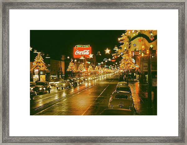 Christmas In La Framed Print