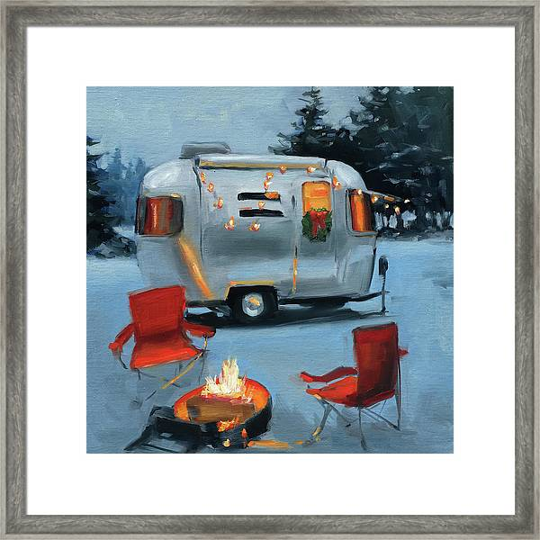 Christmas In The Snow Framed Print