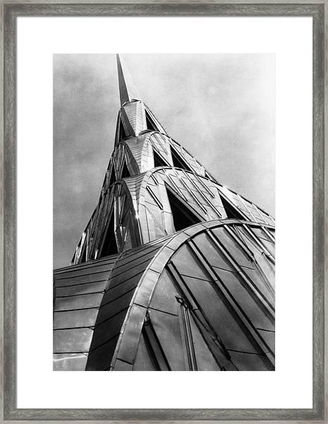 Chrysler Building Spire Framed Print