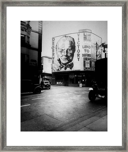 Churchill Poster Framed Print