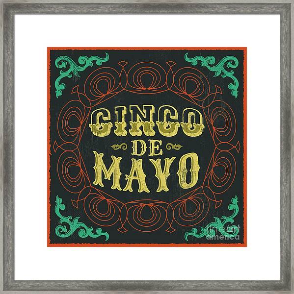 Cinco De Mayo - Vintage Mexican Framed Print