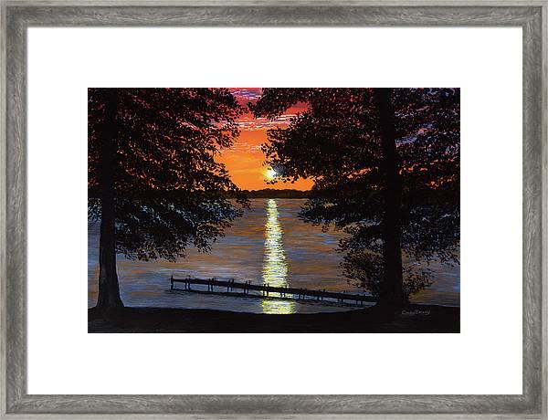 Cindy Beuoy - Lake Maxinkuckee Framed Print