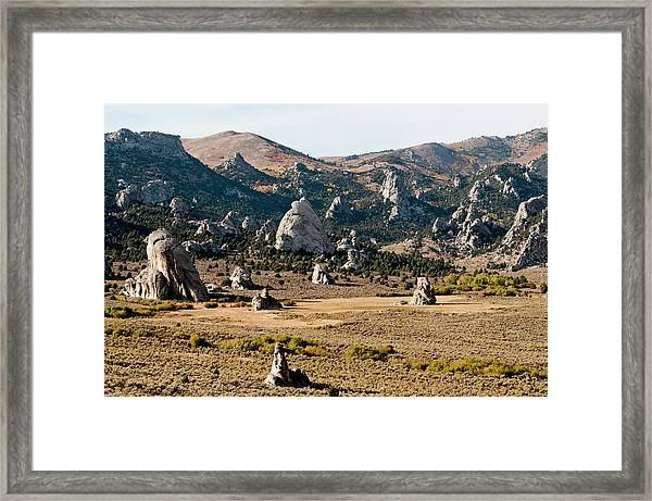 Circle Creek Basin In City Of Rocks Framed Print by William Mullins