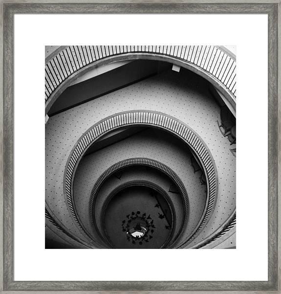 Circular Staircase Framed Print