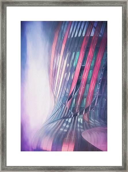 Cite Du Vin Bordeaux France In Abstract Pastels Framed Print