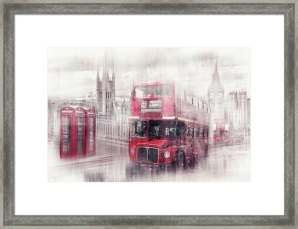 City-art London Westminster Collage II Framed Print