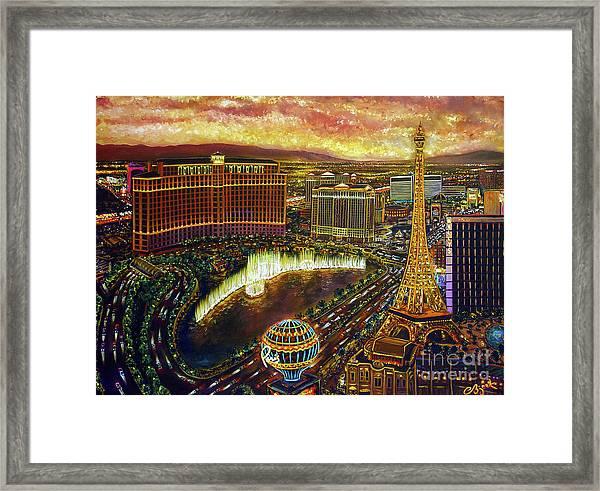 City Of Gold Framed Print
