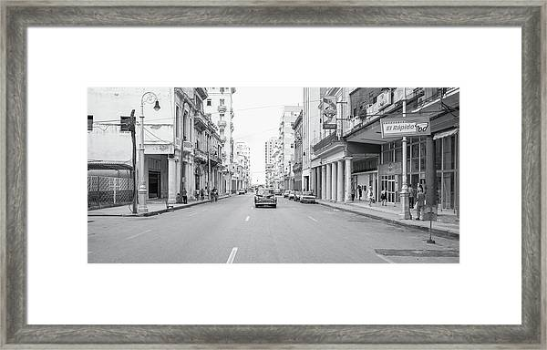 City Street, Havana Framed Print