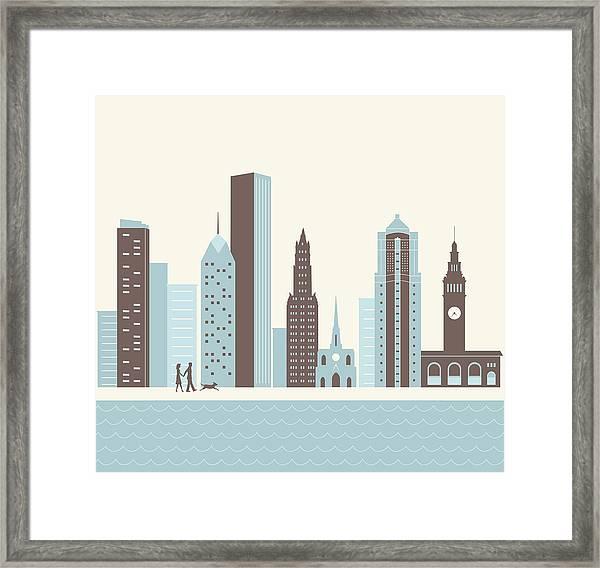 City Walk Framed Print
