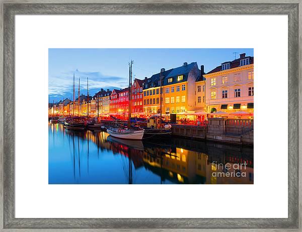 Cityscape Of Copenhagen At A Summer Framed Print