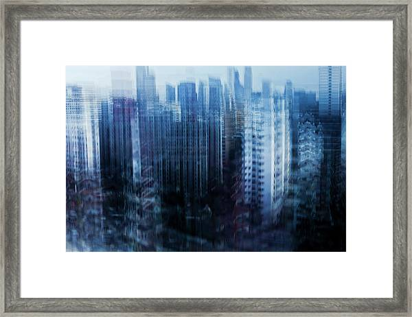 Cityscape Of Singapore Framed Print