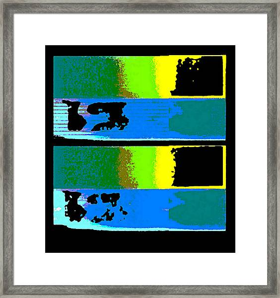 Framed Print featuring the digital art Cityscaper 4000 Original Fine Art Painting Digital Abstract Triptych by G Linsenmayer