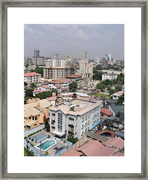 Cityscapes Of Lagos, Nigeria Framed Print by Christopher Koehler