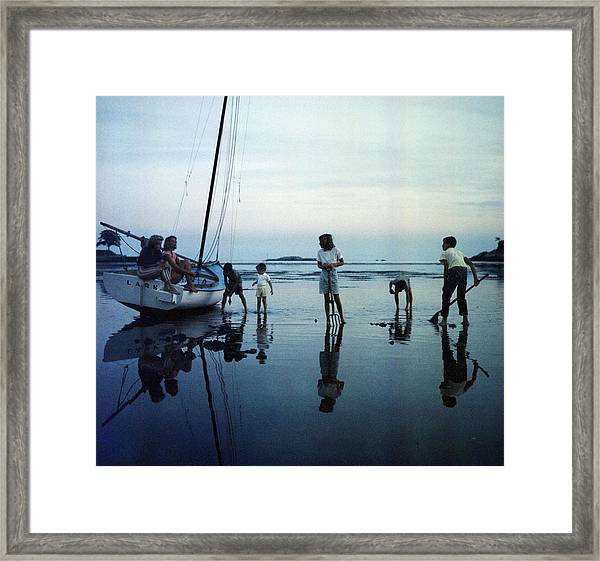 Clam Diggers Framed Print by Slim Aarons