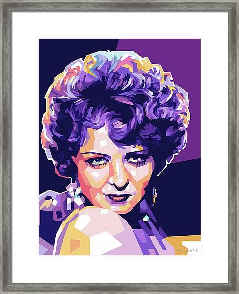 Clara Bow Pop Art Framed Print