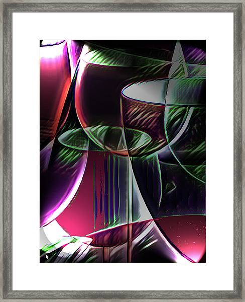 Claret Abstract Framed Print