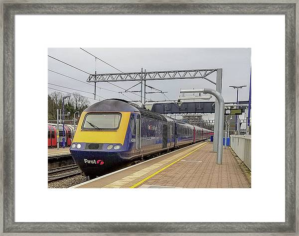 Class 43 High Speed Train At Ealing Broadway Station Framed Print