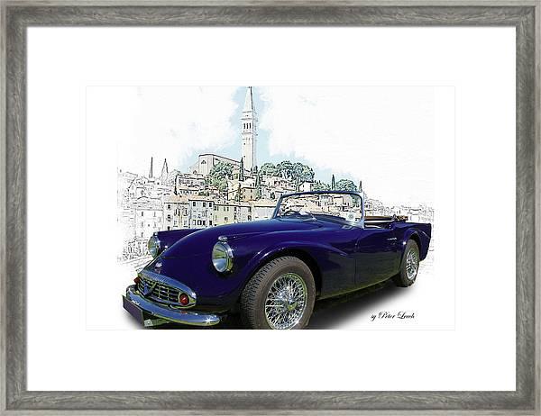 Classic British Sports Car In Croatia Framed Print