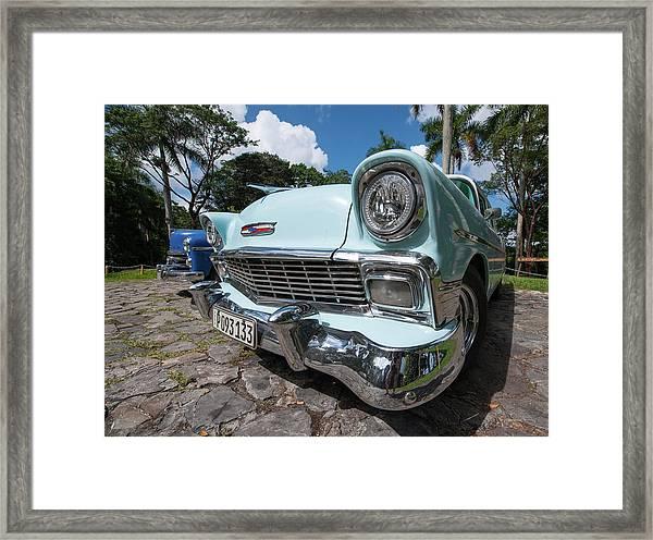 Classic Cuban Chevy Framed Print
