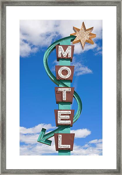 Classic Motel Sign Framed Print