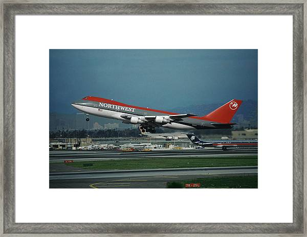 Classic Northwest Airlines Boeing 747 Framed Print