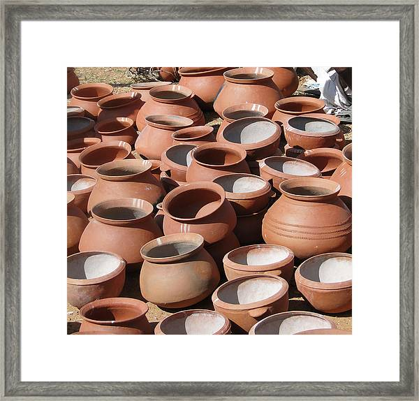Clay Pots  For Sale In Chatikona  Framed Print