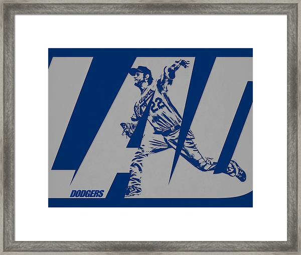 Clayton Kershaw Los Angeles Dodgers City Art 2 Framed Print