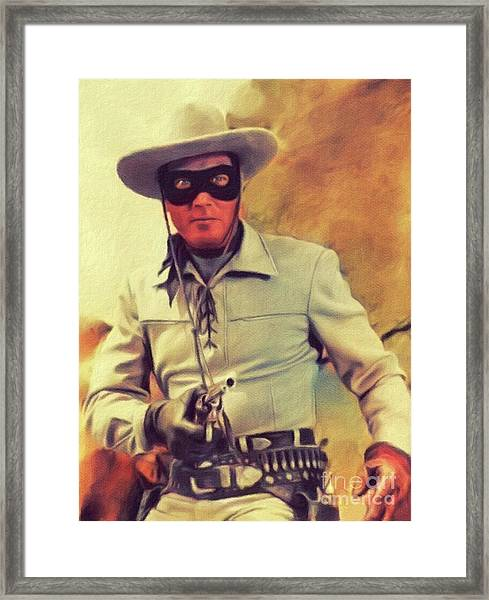 Clayton Moore, Vintage Actor Framed Print