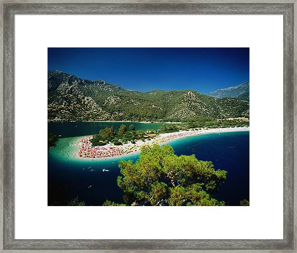 Clear Blue Waters, Fethiye Framed Print